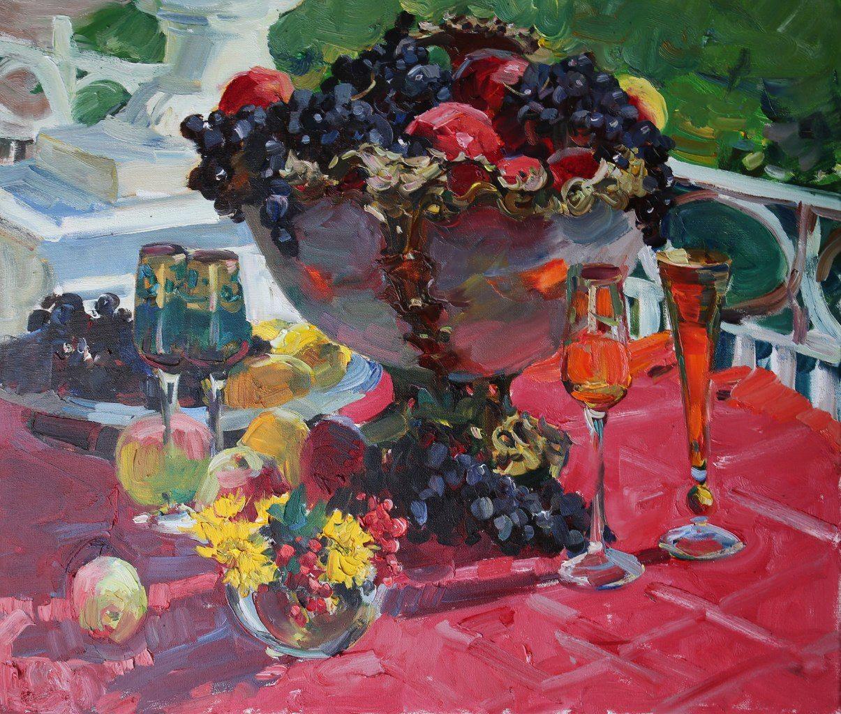 Nature morte par artiste russe du programme Galina Stepanova