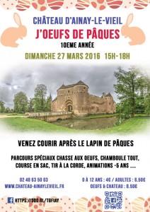 J'oeufs de Pâques 2016 au Château d'Ainay le Vieil