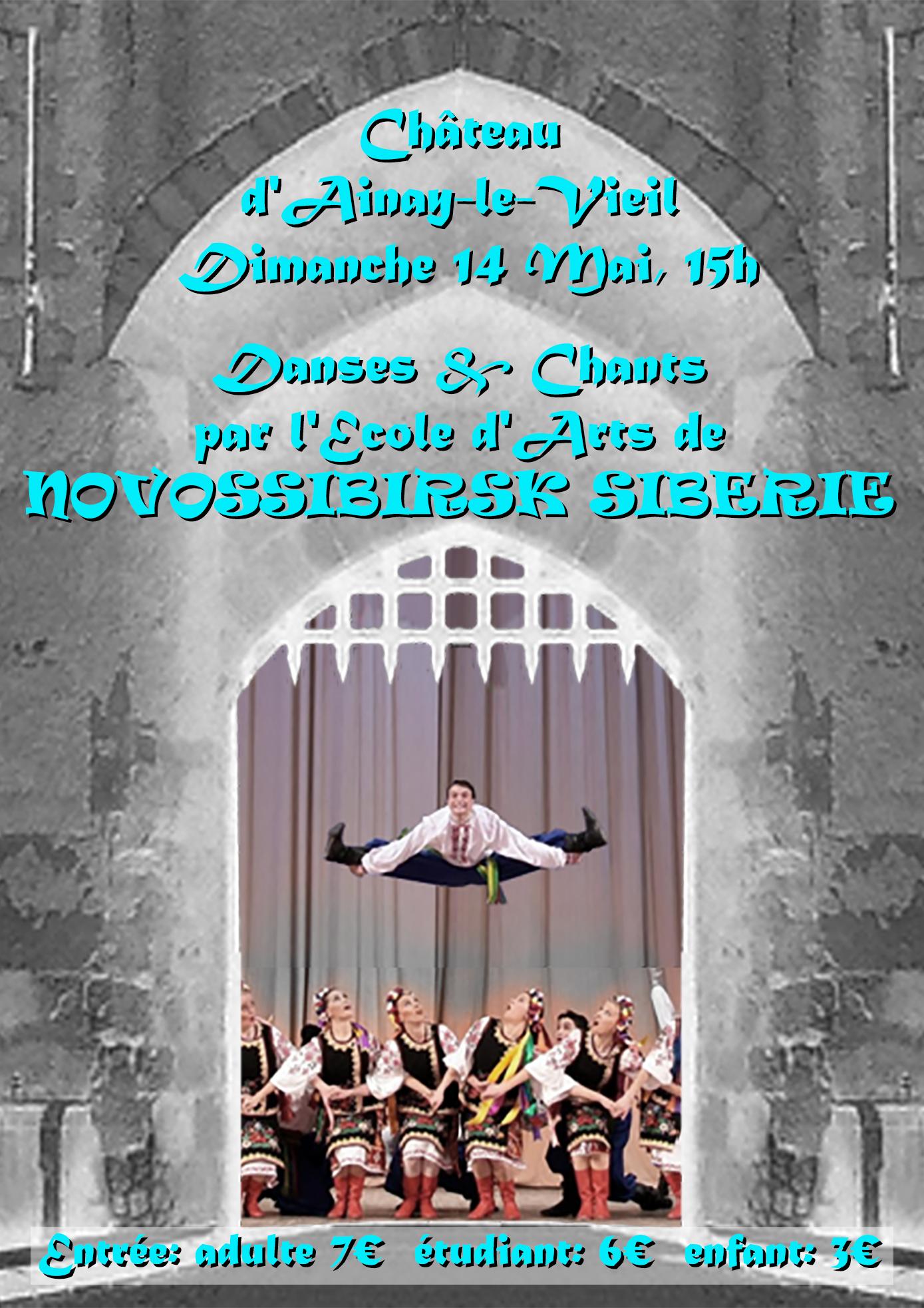 artistes russes : danseurs et chanteurs de l'Ecole d'Arts de NOVOSSIBIRSK SIBERIE