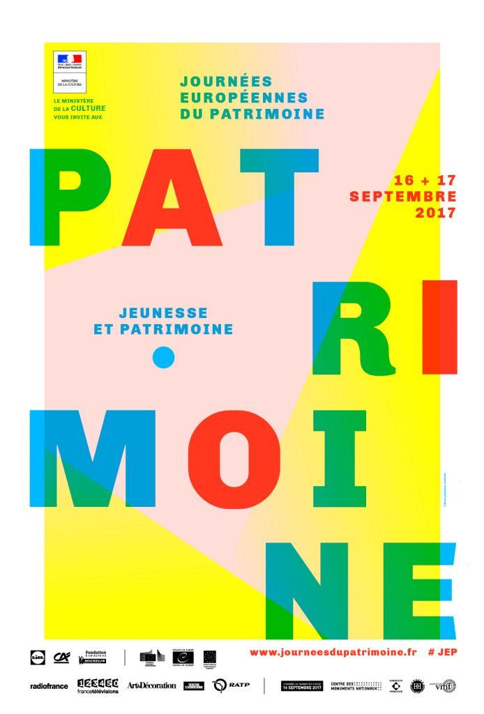 Journées du Patrimoine 2017 - Affiche officielle