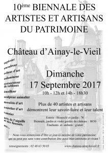 artistes et artisans du partrimoine - Ainay-le-Vieil 2017
