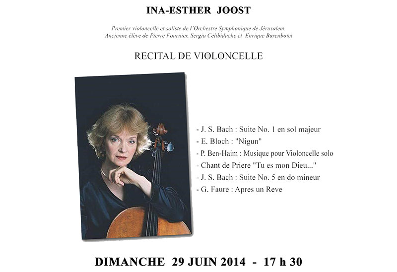 Concert Ina-Esther Joost à Ainay-le-Vieil