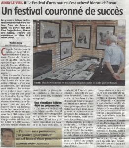 Compte rendu de la premiere édition du Festival International d'arts nature Coeur de France