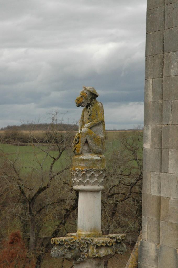 le singe, symbole médiéval de la malignité