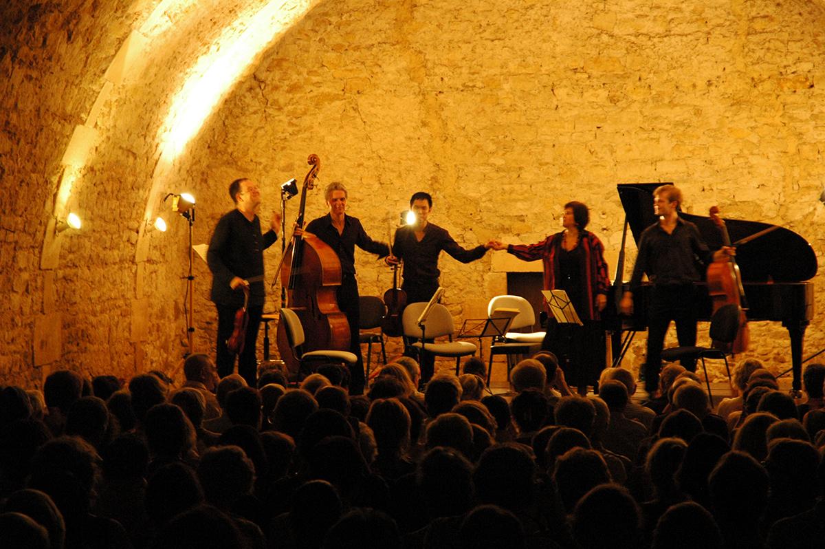 Musique de chambre dans la Salle des Archers du château d'Ainay-le-Vieil