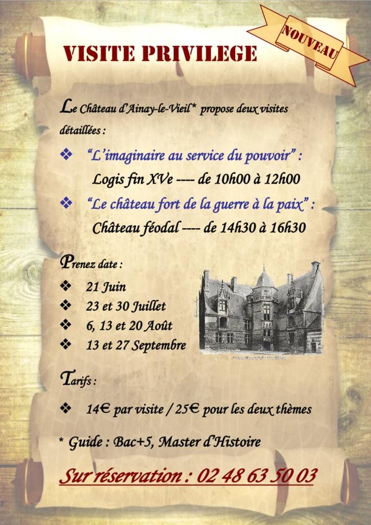 Visite Privilège du Logis du XVème et du château féodal