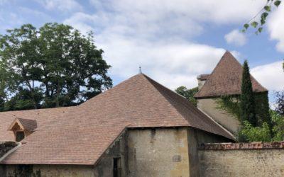 Les travaux de restauration du château continuent