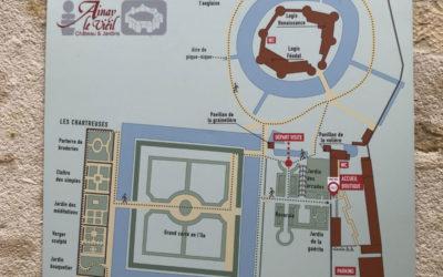 Un nouveau plan du château et des jardins d'Ainay-le-Vieil