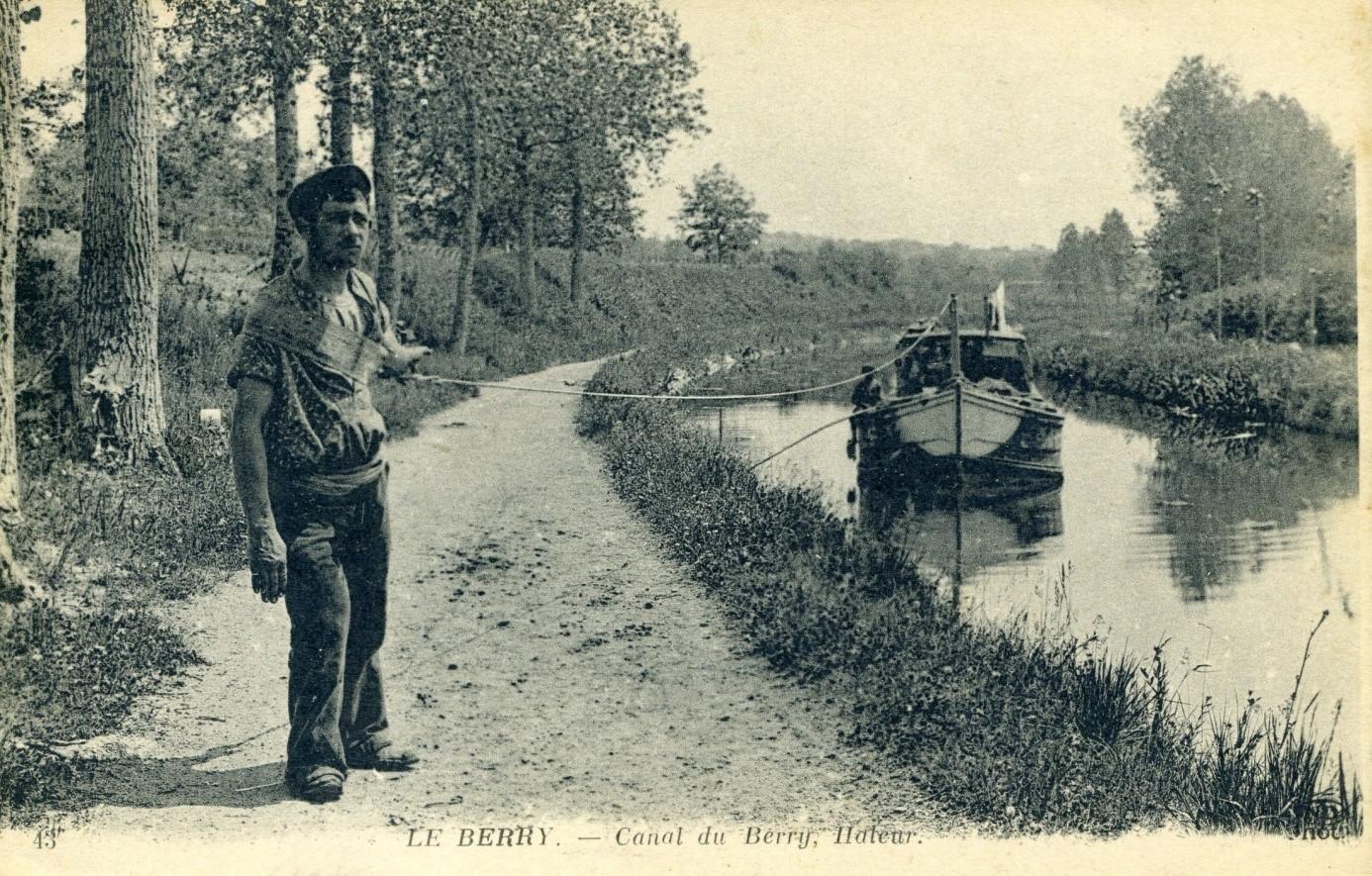 Canal du Berry - Haleur