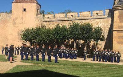 Prise de commandement de l'escadron 45/3 de gendarmerie au Château