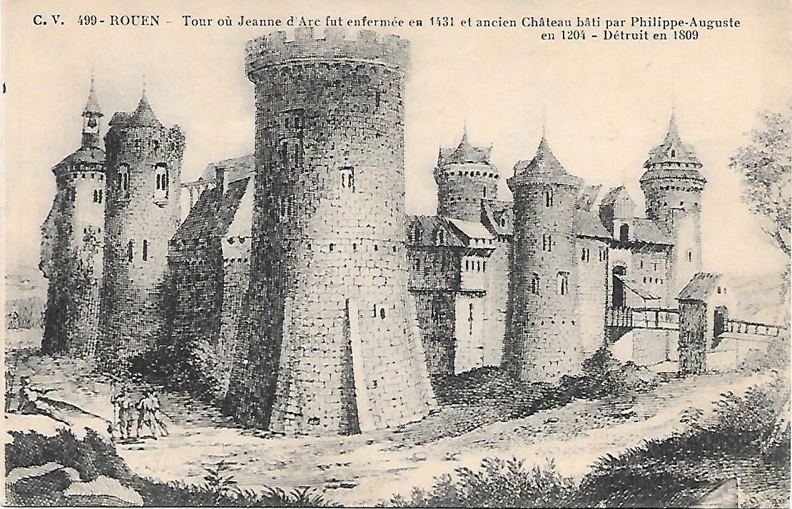 Chateau de Rouen par Phillipe Auguste