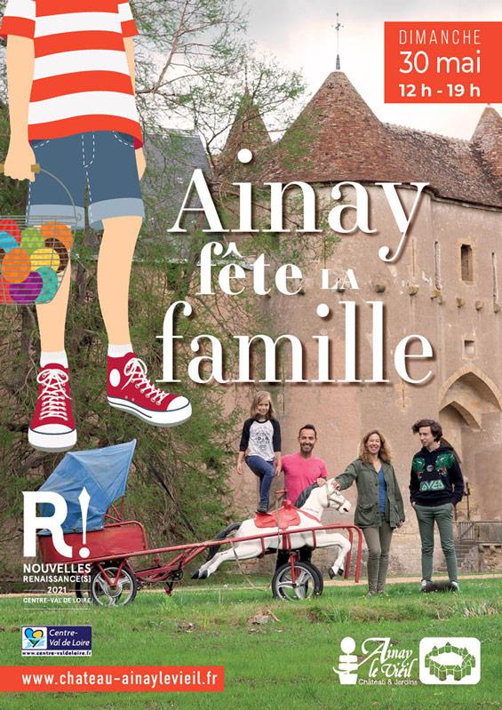 Château d'Ainay-le-Vieil, affiche fête de la famille 2021