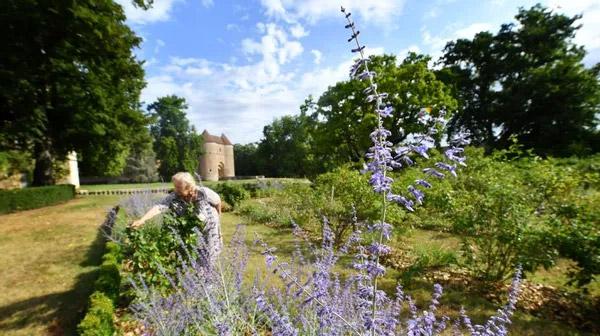 Article du Berry Républicain, avril 2021, Madame de la Tour d'Auvergne dans la roseraie du château d'Ainay-le-Vieil