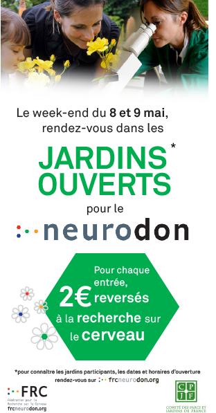 Château d'Ainay-le-Vieil bannière 2021 jardins ouverts pour le Neurodon