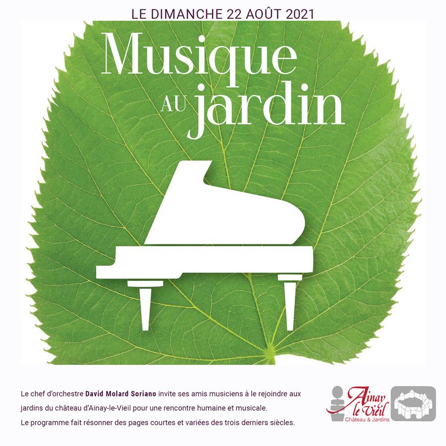 Le château d'Ainay-le-Vieil présente en avant-première l'évènement Musique au jardin, initié par le chef d'orchestre David Molard Soriano