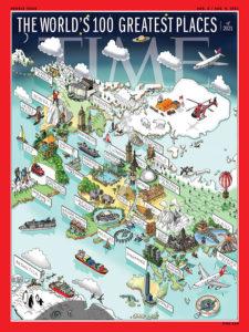 Couverture de TIM sur les 100 plus beaux endroits du monde 2021