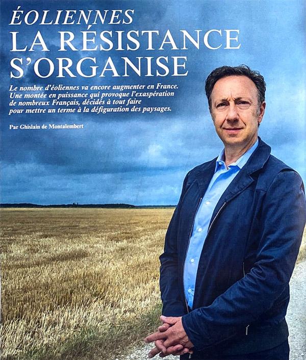Image de couv de l'article du Figaro magazine avec Stéphane Bern